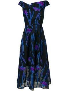 платье миди с цветочным принтом Roland Mouret