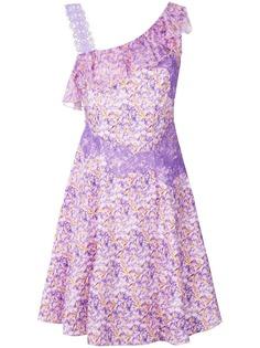 платье с цветочным принтом и кружевной отделкой Blumarine
