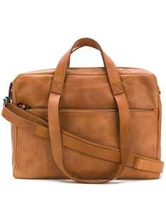 сумка для ноутбука с тиснением логотипа Marsèll