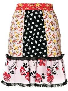 юбка с контрастными панелями Alexander McQueen