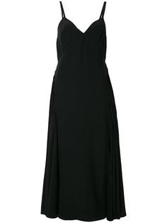 платье со складками на тонких лямках Prada