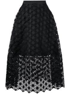 пышная юбка с перфорацией Paskal