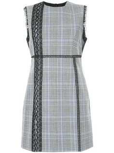 приталенное платье в клетку с кружевной отделкой MSGM