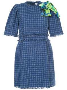 твидовое платье с бахромой MSGM