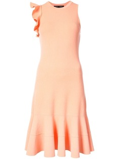 платье без рукавов с оборками на плече Proenza Schouler
