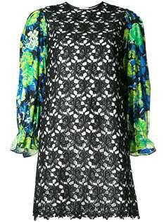 платье мини с цветочным принтом MSGM