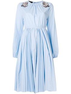 плиссированное платье с пайетками Rochas