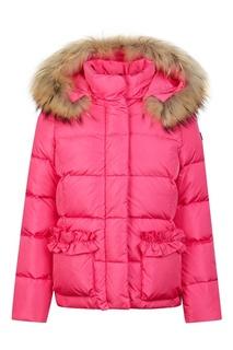 Розовый пуховик с карманами Il Gufo
