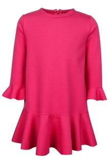 Розовое платье с фактурными рукавами Il Gufo