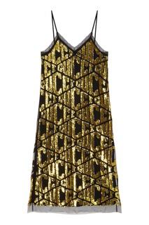 Платье миди с пайетками Gucci