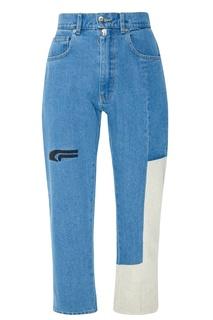Голубые джинсы с отделкой Jacob Kane
