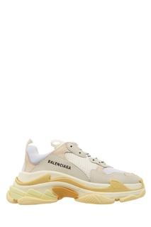Контрастные кроссовки на толстой подошве Triple S Balenciaga