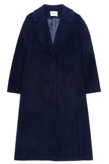 Синее однобортное пальто Claudie Pierlot