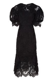 Черное платье с круглым воротником Simone Rocha