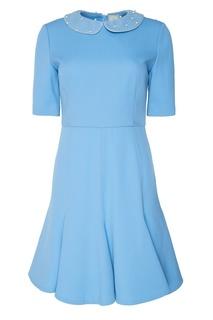 Голубое платье с декоративным воротником The Dress