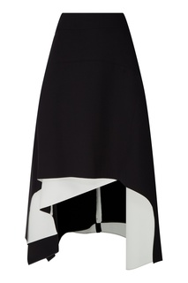 Черная асимметричная юбка Adolfo Dominguez
