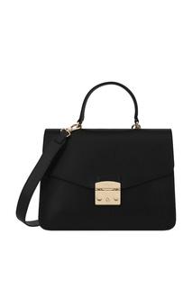 Черная кожаная сумка Furla