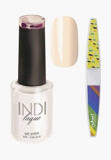 Набор для ухода за ногтями Runail Professional пилка для ногтей и Гель-лак INDI laque Тон №3061, 9 мл