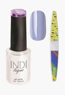 Набор для ухода за ногтями Runail Professional трафарет и Гель-лак INDI laque Тон №3082 9