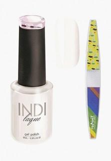 Набор для ухода за ногтями Runail Professional пилка для ногтей и Гель-лак INDI laque Тон №3060, 9 мл