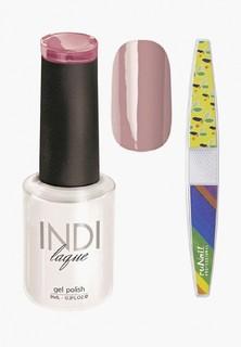Набор для ухода за ногтями Runail Professional пилка для ногтей и Гель-лак INDI laque Тон №3094 9