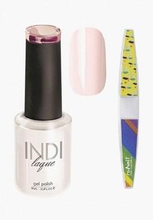 Набор для ухода за ногтями Runail Professional пилка и Гель-лак INDI laque Тон №3062, 9 мл
