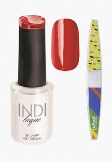 Набор для ухода за ногтями Runail Professional пилка для ногтей и Гель-лак INDI laque Тон №3068 9