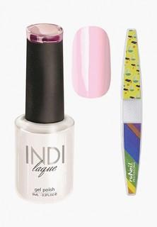 Набор для ухода за ногтями Runail Professional пилка для ногтей и Гель-лак INDI laque Тон №3063