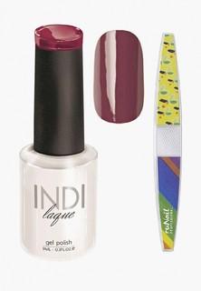 Набор для ухода за ногтями Runail Professional пилка для ногтей и Гель-лак INDI laque Тон №3092 9