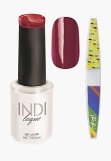 Набор для ухода за ногтями Runail Professional пилка и Гель-лак INDI laque Тон №3091 9
