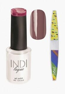 Набор для ухода за ногтями Runail Professional трафарет и Гель-лак INDI laque Тон №3093, 9 мл