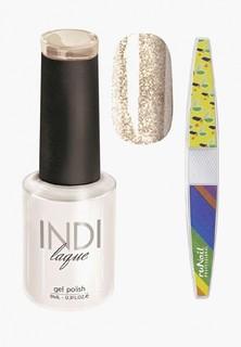 Набор для ухода за ногтями Runail Professional пилка для ногтей и Гель-лак INDI laque Тон №3104, 9 мл