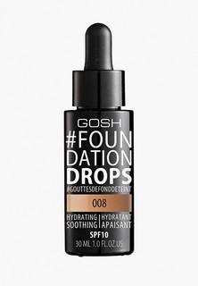 Тональное средство Gosh Gosh! Foundation Drops увлажняющий, 008 Honey Медовый