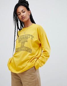 Свободный лонгслив с логотипом Carhartt WIP - Желтый
