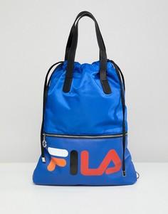 Синяя сумка-шоппер со съемным ремешком Fila Crow - Синий