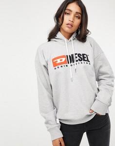 Худи с логотипом Diesel - Серый