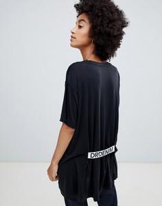 Оversize-футболка с логотипом на спине Dr Denim - Черный