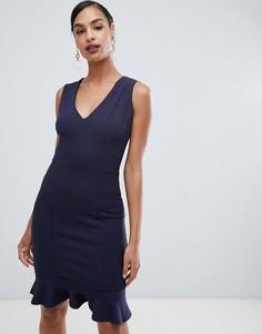Платье без рукавов с расклешенной юбкой Lipsy - Темно-синий