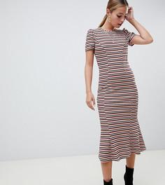 Платье макси в полоску ASOS DESIGN Petite - Мульти