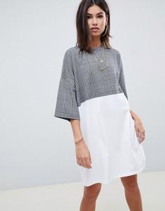 Платье-футболка в клетку ASOS DESIGN - Мульти