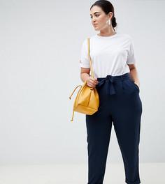 Тканые брюки-галифе с завязкой ASOS DESIGN Curve - Темно-синий