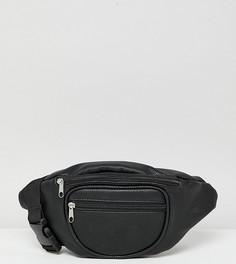 Черная сумка-кошелек на пояс из переработанного полиуретана Reclaimed Vintage inspired - Черный