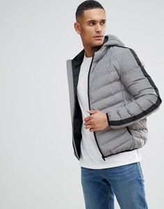 Дутая куртка с капюшоном Brave Soul - Серебряный