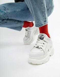 Белые кроссовки на толстой подошве Buffalo Classic - Белый