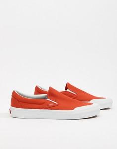 Оранжевые кеды-слипоны Vans Classic 138 VA3TKBU7W - Оранжевый