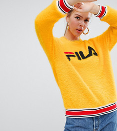 Пушистый джемпер с логотипом Fila - Желтый