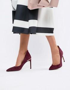 Замшевые туфли-лодочки на каблуке Ted Baker - Красный