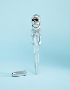 Серебристая ручка со скелетом-боксером Typo - Мульти