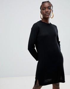 Платье-джемпер с добавлением шерсти Selected Eileen - Черный
