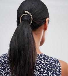 Заколка для волос с дизайном в виде змеи Orelia - Золотой